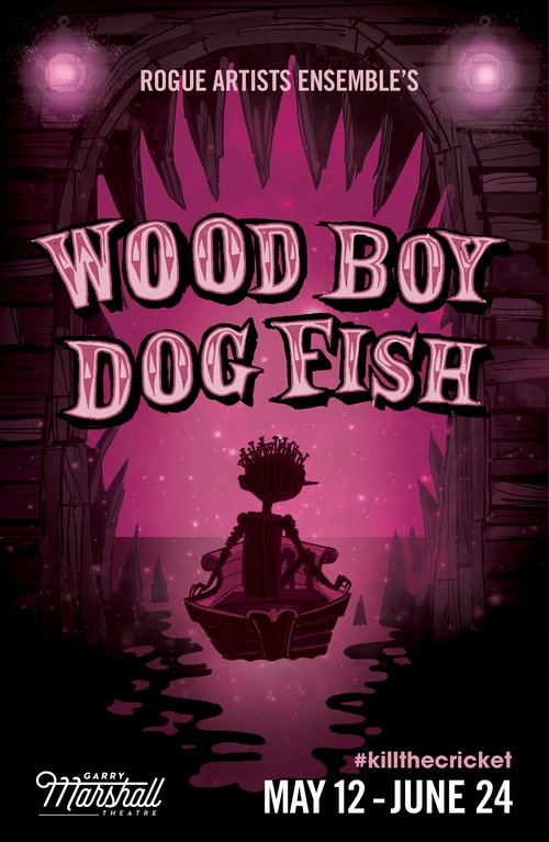 Wood Boy Dog Fish Poster